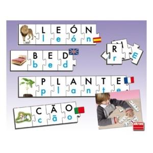 los puzles de letras permiten trabajar la lectoescritura de las sílabas inversas