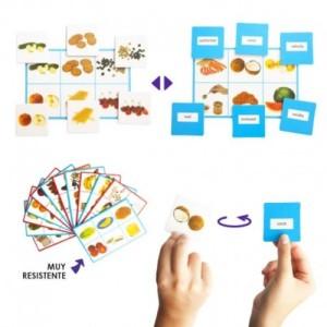 los lotos permiten trabajar de forma lúdica las grafías y los fonemas de las sílabas inversas