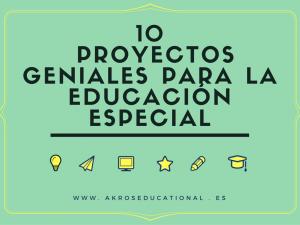 Proyectos para la educación especial