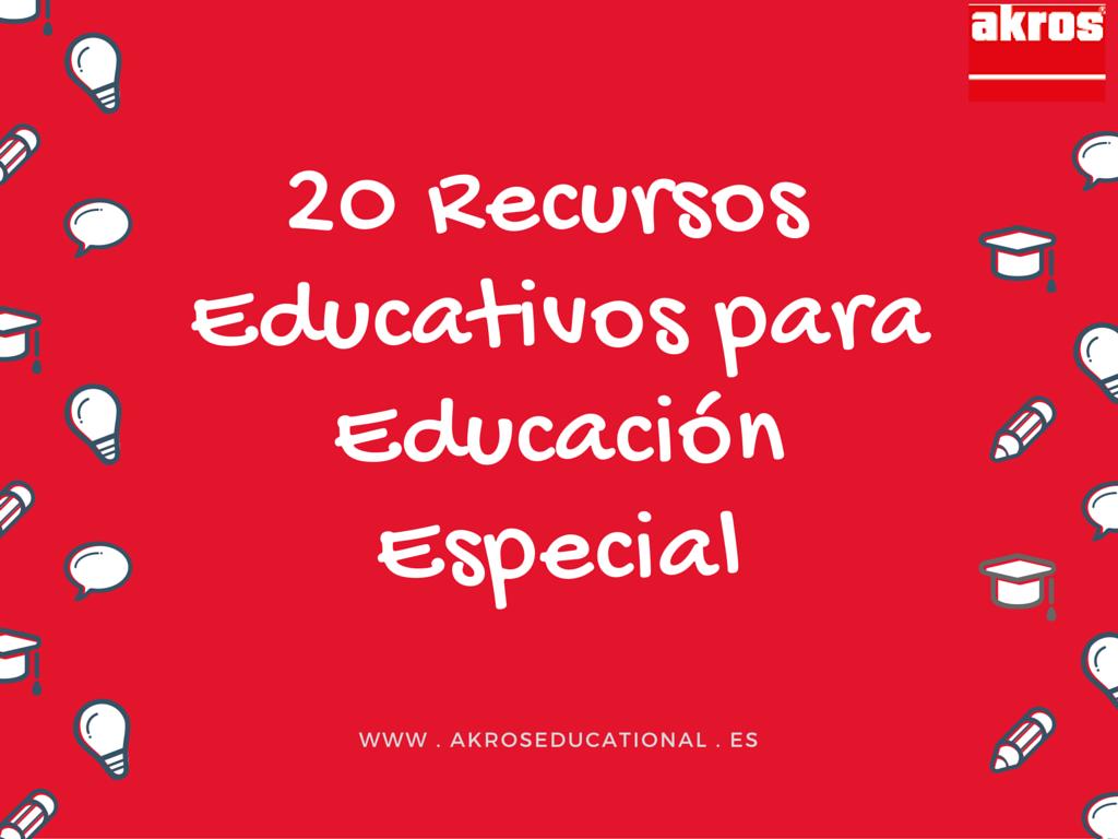 20 Recursos educativos para Educación especial