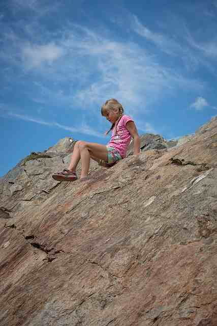 Child in the mountain
