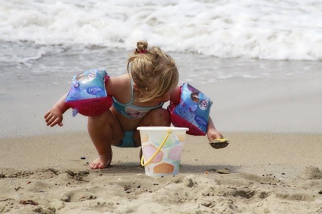 Baby Girl in the Beach