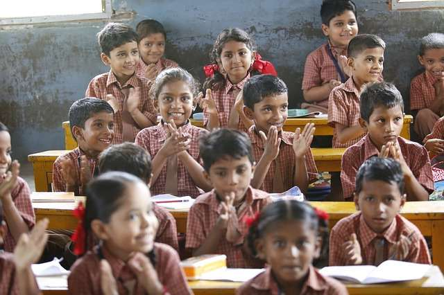 Happy Children at School