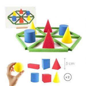 destacan los juegos de construccin en madera juegos encajables de piezas de colores tizas y ceras de dibujo adaptadas