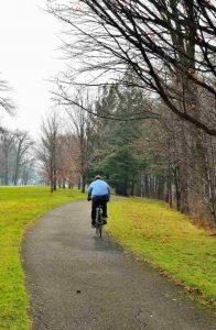 Ciclismo en el parque