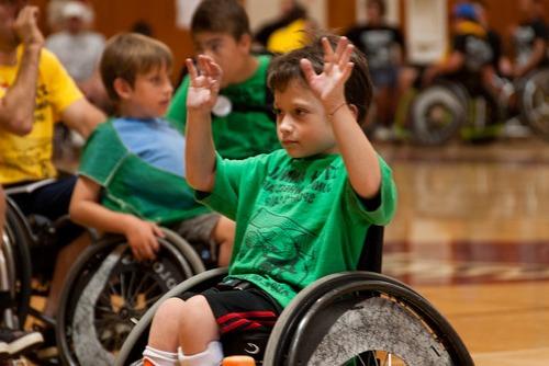 Baloncesto infantil para discapacitados