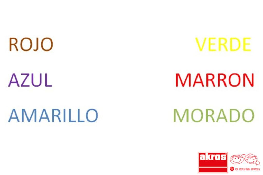 Consiste en un test en el que los palabras se identifican con colores