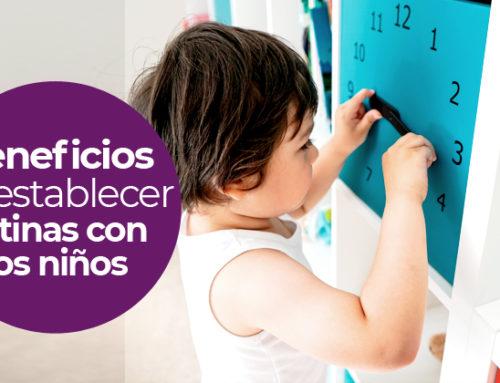 Beneficios de establecer rutinas con los niños. Ayúdate de juegos.