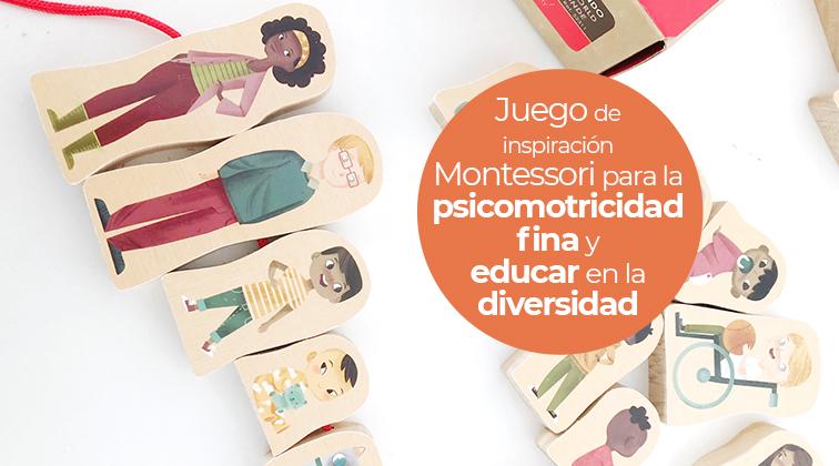 Enlazar familias del mundo: juego Montessori para la psicomotricidad fina y el juego simbólico