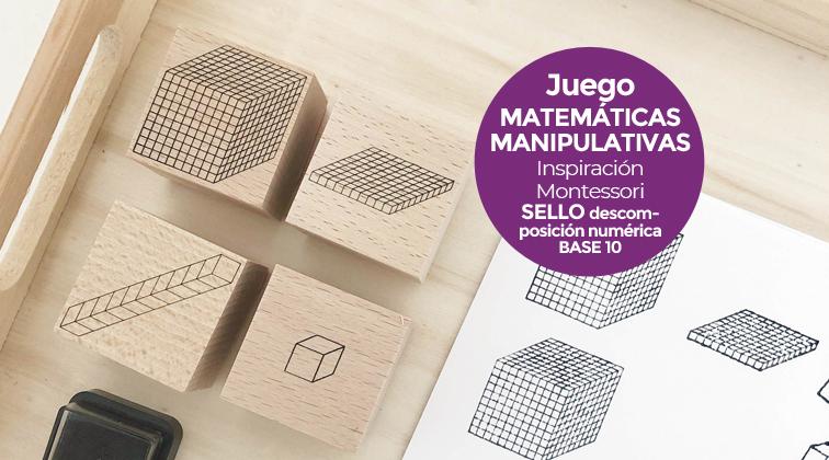 Juego de Matemáticas Montessori: sellos de descomposición númerica base 10